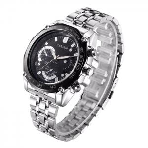 OUKESHI Steel Strap Tachymeter Watch -