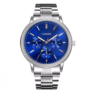 OUKESHI Metallic Strap Analog Wrist Watch