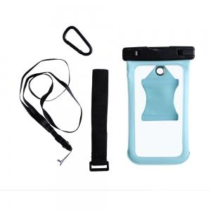 Waterproof Mobile Phone Case with Arm Band - Cyan