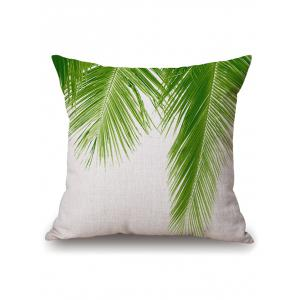 Palm Leaf Linen Pillow Case Sofa Home Decoration
