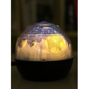 Space Scene Planetary Rotating Projection Lamp - BLACK