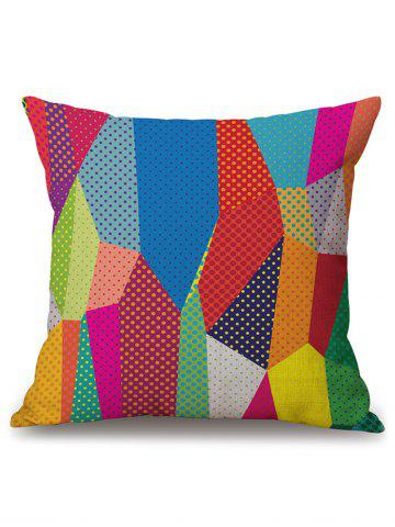 Fashion Linen Geometric Print Decorative Throw Pillow Case - 45*45CM COLORMIX Mobile