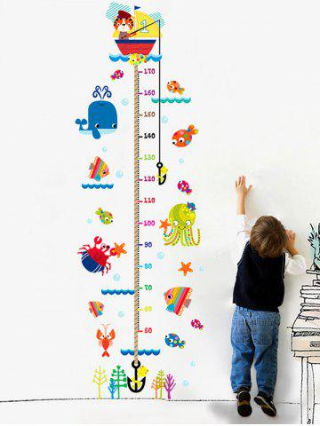 Cartoon Cat Fishing Height Animal Wall Sticker - Colormix - 60*90cm