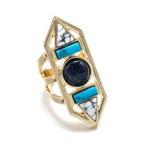 Sale Rammel Vintage Geometric Ring - GOLDEN  Mobile