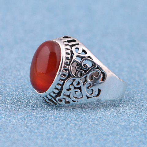 Buy Faux Ruby Vintage Ring - 8 SILVER Mobile