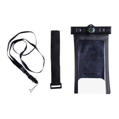 Chic Waterproof Case with Compass - BLACK  Mobile