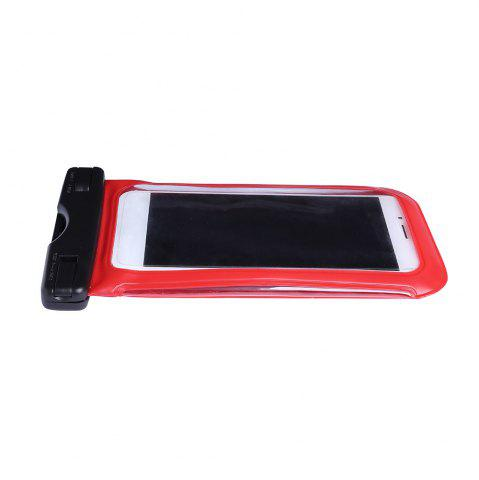 Cheap Waterproof Mobile Phone Case with Arm Band - RED  Mobile