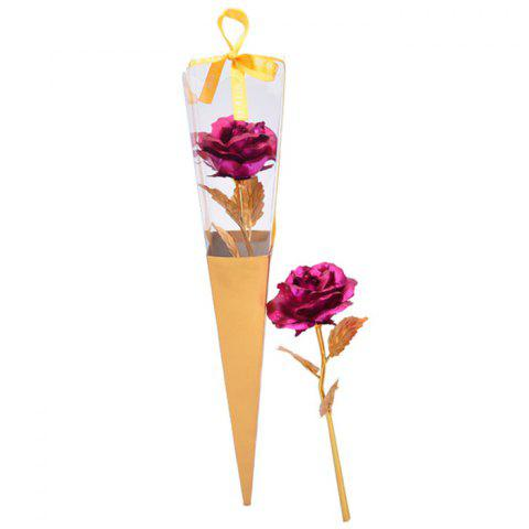 Outfit Valentine's Day Gift Artificial Plated Rose Flower TUTTI FRUTTI