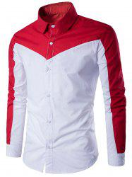 Long Sleeve Two Tone Panel Shirt