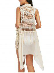 Open Front Asymmetric Crochet Cover Up