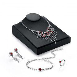 Rhinestoned Infinity Heart Jewelry Set