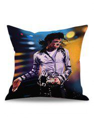 Michael Jackson Star Printed Linen Pillow Case