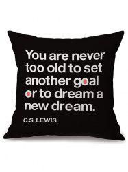 English Quote Linen Throw Cover Pillow Case