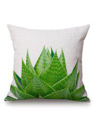 Aloe Plant Printed Linen Throw Square Pillow Case