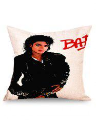 Michael Jackson Linen Throw Pillow Case