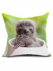 Sloth Home Decorative Cushion Cover Square Pillowcase
