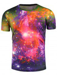 Short Sleeve 3D Colorful Trippy Galaxy T-Shirt