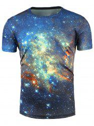 Short Sleeve 3D Trippy Galaxy T-Shirt