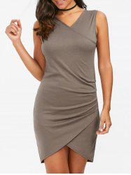 Ruched Mini Fitted Sleeveless Dress