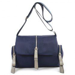 Tri Zip Nylon Crossbody Bag