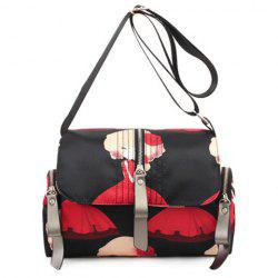 Nylon Print Crossbody Bag