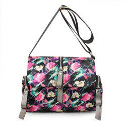 Nylon Print Crossbody Bag - COLORMIX
