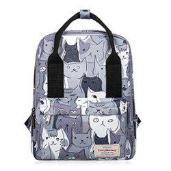 Print Canvas Handle Backpack