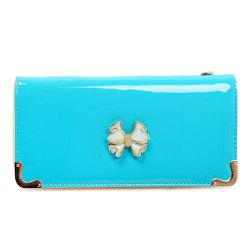Bowknot Patent Leather Clutch Wallet