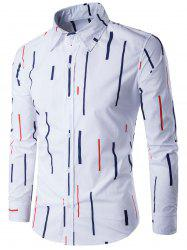 Long Sleeve Lines Print Shirt