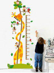 Enfants Chambre Giraffe Toise Wall Sticker - Multicolore
