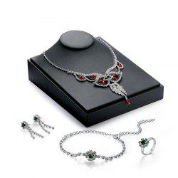 Artificial Gemstone Rhinestone Jewelry Set