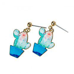 Cactus Earrings - BLUE