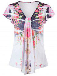 Plus Size Floral Empire Waist T-Shirt