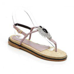 Rhinestones Rope Sole Sandals