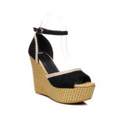 Peep Toe Weaving Sandals