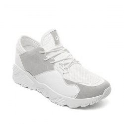 Breathable Color Block Athletic Shoes - WHITE