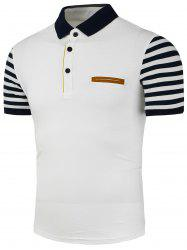 Sleeve Stripe Pocket Polo Shirt