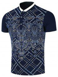 Printed Short Sleeve Polo T-Shirt