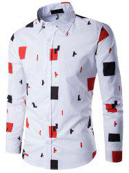 Long Sleeve Geometric Pattern Shirt