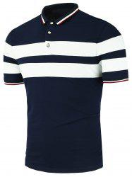 Stripe Panels Polo Shirt