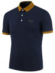 Contrast Trim Two Tone Polo Shirt