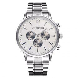OUKESHI Metallic Strap Quartz Watch -