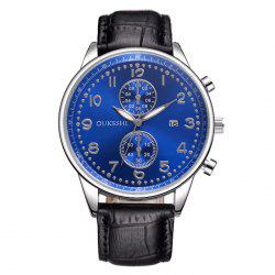 OUKESHI Faux Leather Watch Date Quartz Watch