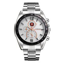 OUKESHI Alloy Strap Tachymeter Wrist Watch -