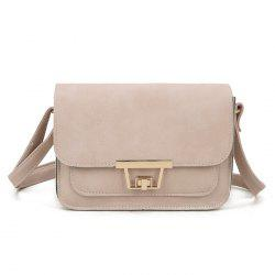 Faux Leather Metal Detail Crossbody Bag - PINK