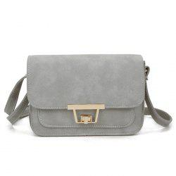 Faux Leather Metal Detail Crossbody Bag