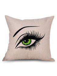 Pretty Eyes Decorative Linen Sofa Pillowcase