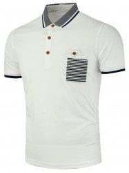 Stripe Pocket Polo Shirt