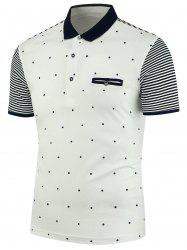 Stripe Polka Dot Polo Shirt