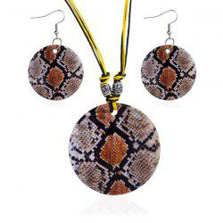 Snakeskin Decorative Pattern Shell Jewelry Set